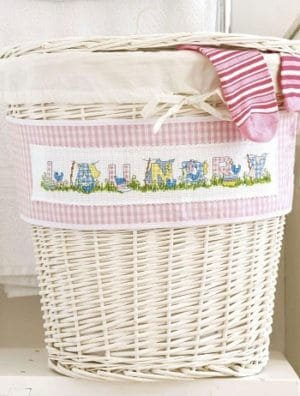 Laundry-themed alphabet-cross-stitch pattern
