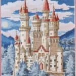 Free cross-stitch design Fairy castle