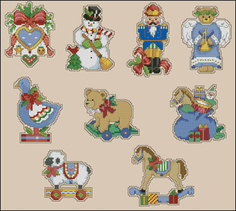 christmas toys cross stitch patterns - Free Christmas Toys