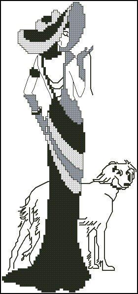 lady-dog-free-cross-stitch-pattern