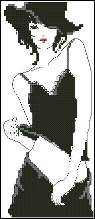 "Free cross-stitch pattern ""Pretty woman"""