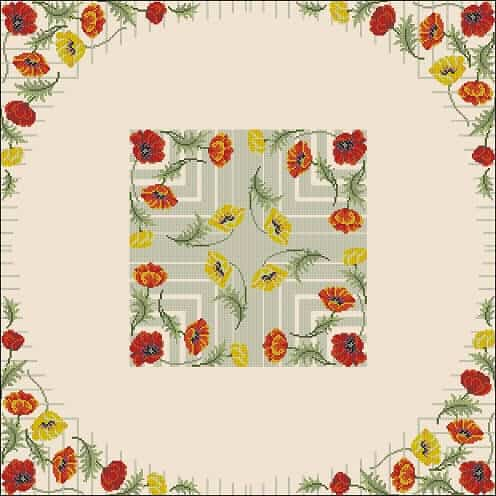 Free Cross Stitch Pattern For Square Tablecloth Free Cross Stitch Patterns