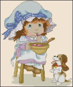 free-cross-stitch-pattern-little-girl-dog