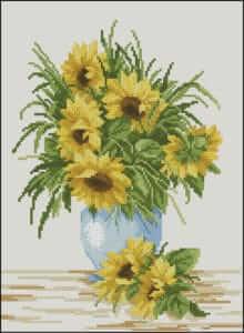 sunflowers-blue-vase-free-cross-stitch-pattern