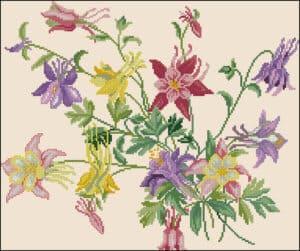 spring-flowers-cross-stitch-design