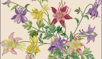 """Spring flowers""-cross-stitch design"