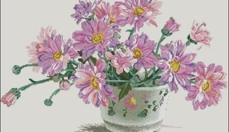 Asters amellus-cross-stitch design