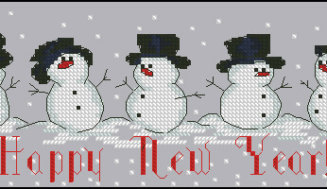 Happy New Year ! – Cross-stitch pattern