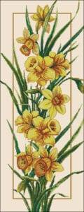 daffodils-cross-stitch-pattern