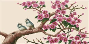 two-birds-on-a-blossom-branch-cross-stitch-pattern