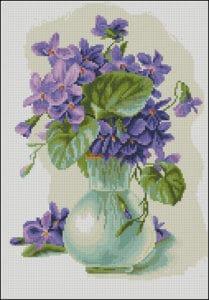 violets-in-a-jug-cross-stitch-pattern