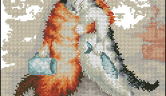 Hard day- free cross-stitch pattern