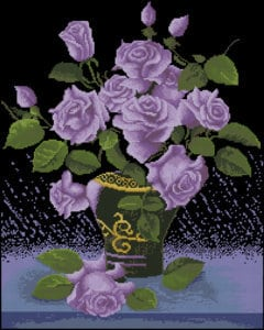 lilac-roses-free-cross-stitch-design