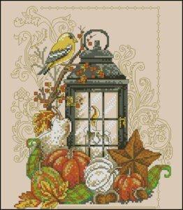 autumn-lantern-free-cross-stitch-pattern