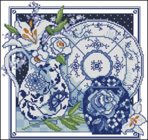 white-and-blue-vases-with-lilies-cross-stitch-pattern