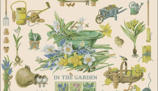In the garden -free cross-stitch design