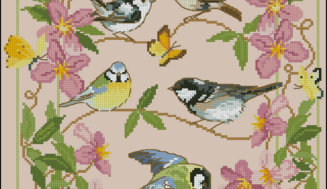 Spring birds -free cross-stitch design