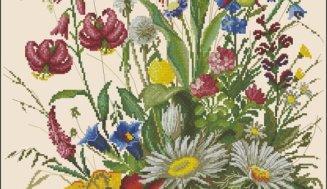 Free cross-stitch pattern Summer  flowers