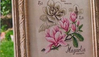 Free cross-stitch pattern Magnolia botanic