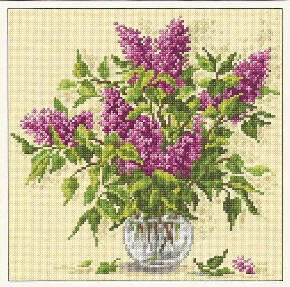 Lilac-free cross-stitch pattern | Free Cross-stitch patterns