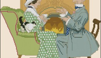 Afternoon tea-cross-stitch pattern