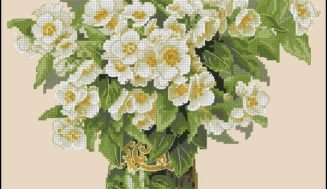 "Free cross-stitch pattern ""Jasmine"""