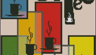 """Free cross-stitch pattern """"Coffee"""""""