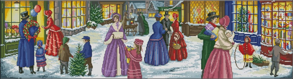 Christmas festivities-cross-stitch pattern