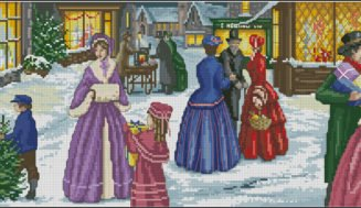 Christmas festivities-cross-stitch pattern free