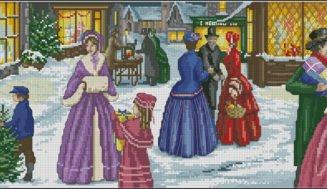 Christmas festivities-cross-stitch pattern free