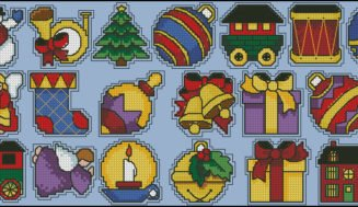 Christmas toys-free cross-stitch pattern