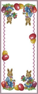 Easter Table Runner-cross-stitch design free