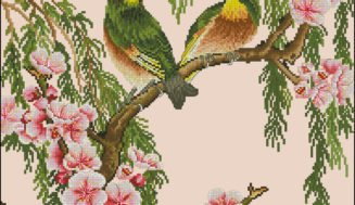 Spring birds-free cross-stitch pattern