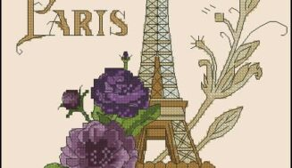 Eiffel Tower-free cross-stitch pattern