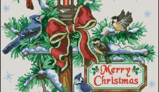 Christmas lamp-free cross-stitch pattern