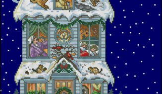 Christmas Eve-free cross-stitch design