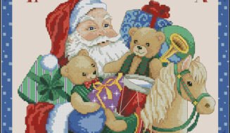 Here comes Santa-free cross-stitch pattern