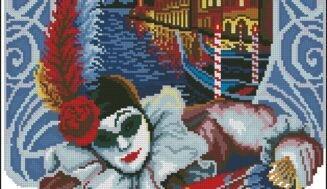 Venice Carnival-free cross-stitch design