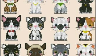 Kittens-free cross-stitch pattern