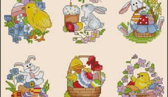 Easter  cards-cross-stitch patterns
