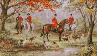 Foxhunting-cross-stitch design