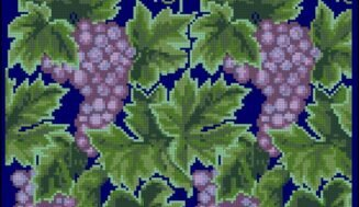 Grapes-cross-stitch pattern