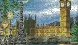 London. Big Ben-cross-stitch design