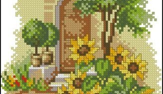 Patio-free cross-stitch design