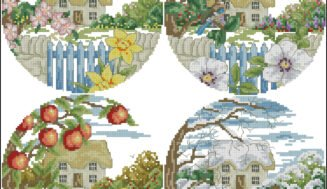 Four seasons-free cross-stitch design