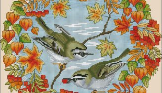 Sparrows-cross-stitch pattern.