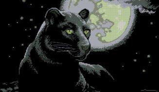Black panther-free cross-stitch pattern