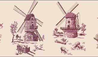 Mills -cross-stitch pattern