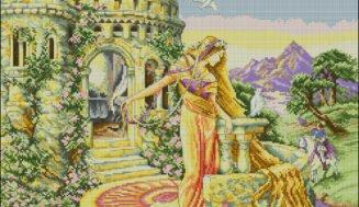 Rapunzel-cross-stitch design