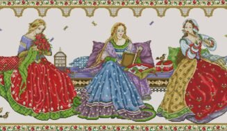 Renaissance-cross-stitch design